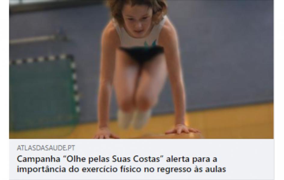 """Campanha """"Olhe pelas Suas Costas"""" alerta para a importância do exercício físico no regresso às aulas"""