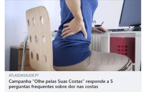 """Campanha """"Olhe pelas Suas Costas"""" responde a 5 perguntas frequentes sobre dor nas costas"""